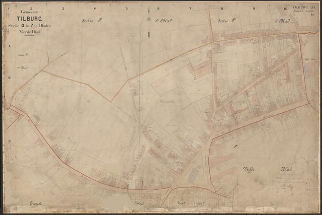 652631 - Kadasterkaart Tilburg, Sectie Q, blad 4. Schaal 1:1000. 1913.