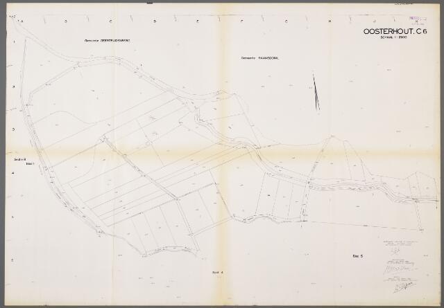 104999 - Kadasterkaart. Kadasterkaart / Netplan Oosterhout. Sectie C6. Schaal 1: 2.500.
