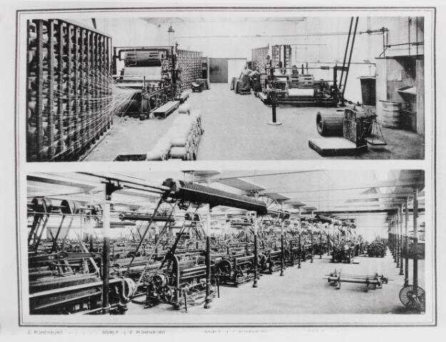 045793 - Textielindustrie. Fabrieksinterieur van Pijnenburg's Weverijen N.V., weverij van linnen en jute artikelen, gespecialiseerd in zogenaamde tussenlinnen