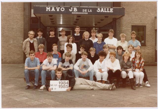 051714 - Middelbaar Voortgezet Onderwijs. MAVO St. Jean Baptiste de la Salle. klas 3d. Schooljaar 1984-1985