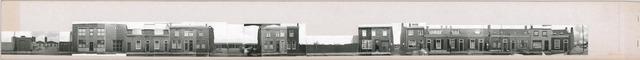 1625_0125 - Fotostrook; straatwand; panden aan de linten en hoofdverbindingswegen in het centrum van de stad; Hoogvensestraat 2A-128 / 180-206; foto's werden tussen 1976 en 1985 gemaakt.
