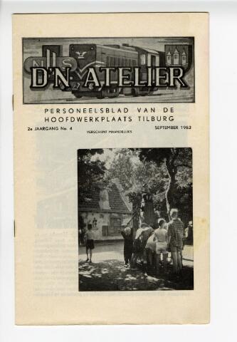 604310 - D´n Atelier, maandblad. Personeelsblad van de NS werkplaats te Tilburg. 6e jaargang.  Afbeelding op de omslag: kinderen in de Efteling