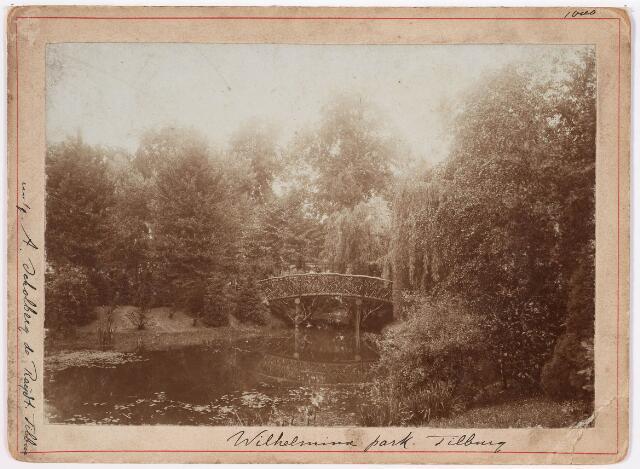035107 - Zicht op een bruggetje in het Wilhelminapark