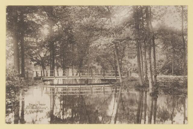 073935 - Hondsberselaan met Huize 'De Hondsberg'  een oude buitenplaats, met waterpartijen, bruggetje, kiosk, pension, restaurant, hotel en opvangtehuis voor slechtziende kinderen o.l.v. dr. Aussems.