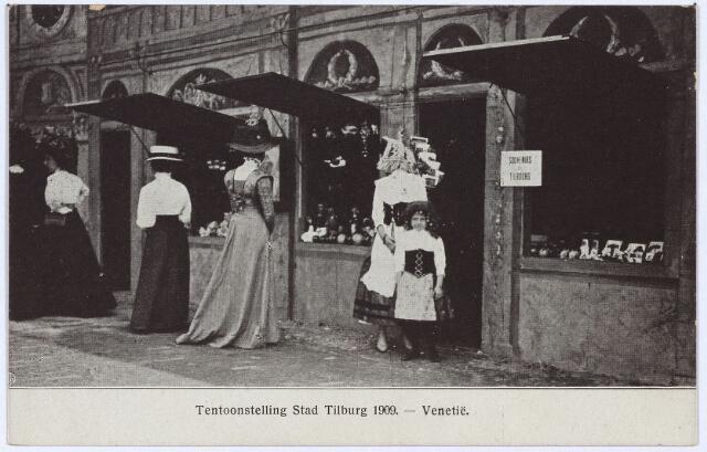 """003297 - Detail van """"de stad Venetië"""" op de tentoonstelling Stad Tilburg."""