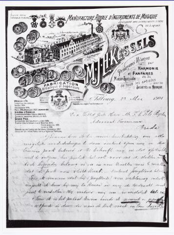007229 - Briefhoofd. Brief van Mathijs Kessels aan mr. Pels Rijcken, gedateerd 23 mei 1901. Kessels stelt zich beschikbaar om te getuigen - U behoeft mij in dat opzicht niet te ontzien´ - en geeft uitgebreid zijn gesprek met Jongbloets weer (Marietje Kessels).