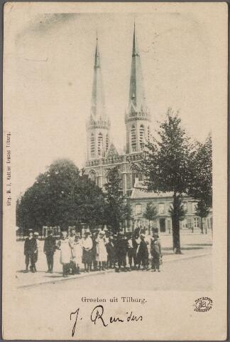 010663 - Heuvel, kerk St. Jozef, lindeboom en pastorie.