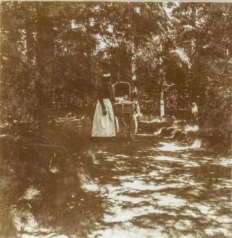 653592 - Mastbosch. Janske met Dini (nog uitbreiden!) (Origineel is een stereofoto.)