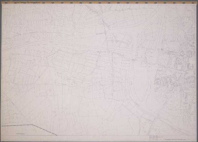 104907 - Kaart. Basiskaart van wijk Vrachelen, opgemaakt door Openbare Werken Oosterhout. Schaal 1:2.500.
