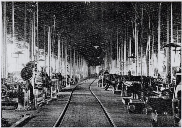 036932 - Spoorwegen, Centrale Werkplaats, Atelier, NS: De draaierij.