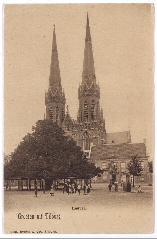 000874 - R.K. Kerk Sint Jozef aan de Heuvel met lindeboom, pomp en pastorie.