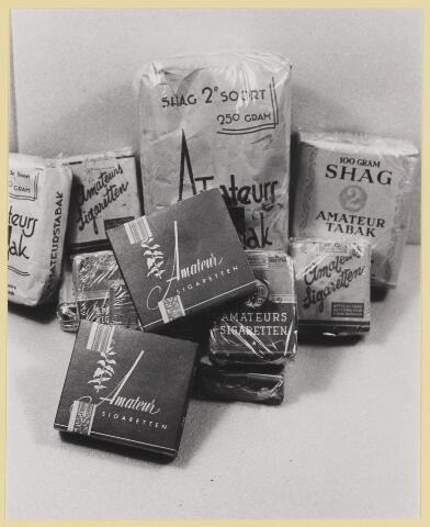 077523 - Tweede wereldoorlog 1940-1945. Deze sigaretten en shag hoorden hoogstwaarschijnlijk ook tot de normale uitrusting van de geallieerde soldaten.