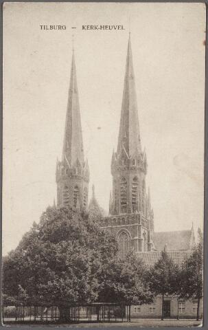 010565 - Kerk St. Jozef, lindeboom en pastorie Heuvel.