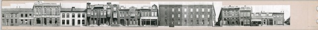 """1625_0025 - Fotostrook; straatwand; panden aan de linten en hoofdverbindingswegen in het centrum van de stad; """"Triborgh"""" fabriek; foto's werden tussen 1976 en 1985 gemaakt. (foto gemaakt in periode 1976-1985)"""