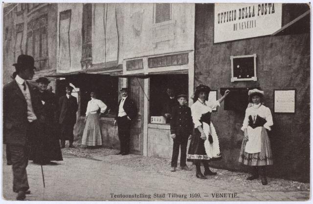 """003296 - Het postkantoor in """"de stad Venetië"""" op de tentoonstelling Stad Tilburg."""