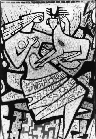 1238_F0237 - Muurschildering in de Noordhoekse kerk door Egbert Dekkers