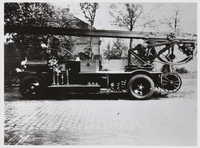 103636 - Brandweer. Ladderwagen met de hand te bedienen.