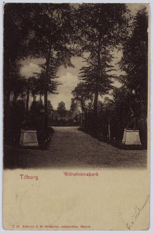 002833 - Herten bij de ingang van het Wilhelminapark.