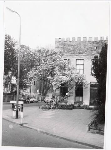 032267 - Natuurhistorisch museum aan de Paleisstraat thans Stadhuisplein (zijaanzicht vanaf Bisschop Zwijsenstraat) zie documentnummer 32261