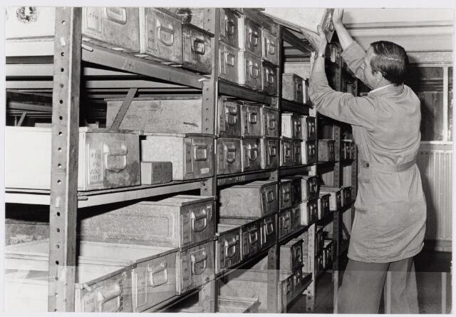 050122 - Volt, Hulp-afdelingen, Hal N.O. Het Centraalmagazijn op complex Noord omstreeks 1978.