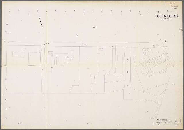 104984 - Kadasterkaart. Kadasterkaart / Netplan Oosterhout. Sectie M6. Schaal 1: 1.000.