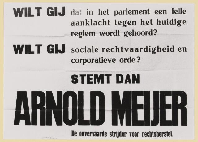 077344 - Affiche Zwart Front 1934-1941