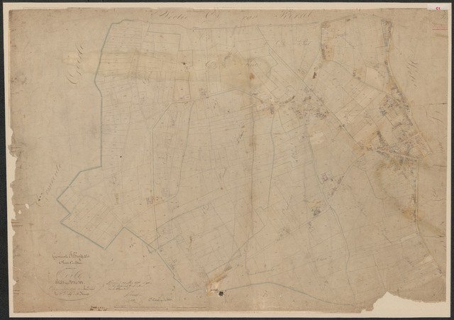 652583 - Kadasterkaart Tilburg, Sectie C (Oerle), blad 1. Schaal 1:2500. 1870.