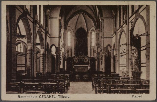 010985 - Interieur kapel retraitehuis en klooster van O.L.V. van het Cenakel aan de Koningshoeven, nu Kempenbaan.