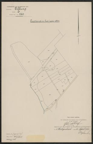 652595 - Kadaster. Hulpkaart 1894 Tilburg, Sectie E (De Blaak). Schaal 1:2500. 1894.