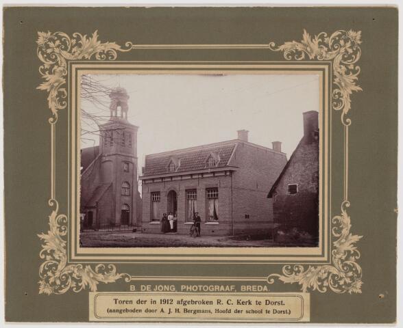 103535 - Toren van de R.K. kerk te Dorst, die in 1912 is afgebroken.