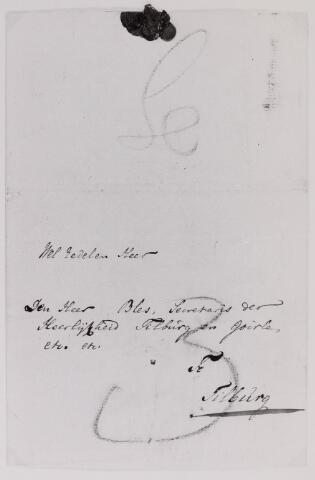 041647 - Postbrieven. Envelop van een brief uit 's-Hertogenbosch gericht aan de Isaac Bles (1758-1811), secretaris van Tilburg.