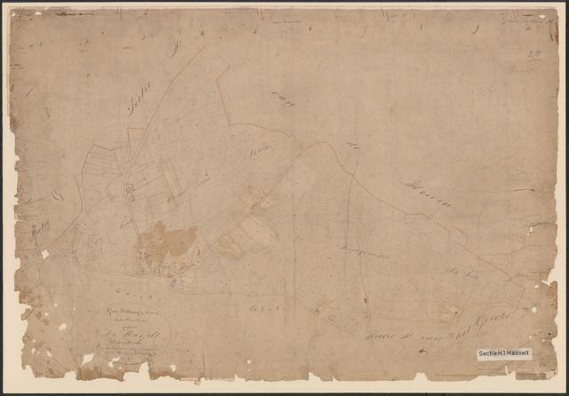 652609 - Kadasterkaart Tilburg, Sectie H (Hasselt), blad 1. Schaal 1:2500. 1871.