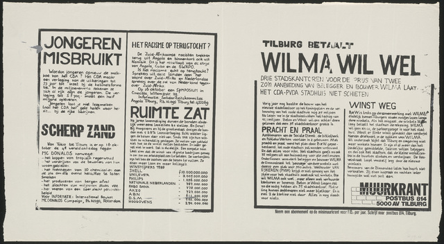 668_1989_246 - Tilburg betaalt/Wilma wil wel