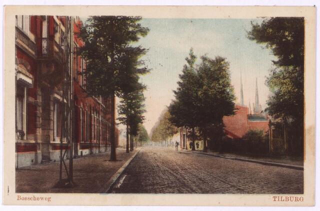 002665 - Bosscheweg, nu Tivolistraat, richting Heuvel. LInks het pand Bosscheweg 172, vanaf 1932 nr. 456. In dit pand woonde tot 1915 burgemeester Raupp, daarna, tot 1924, wollenstoffenfabrikant Aloysius H.J. Brands, getrouwd met Cecilia M.E.J. Kahmann.