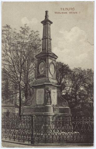 002518 - Gedenknaald voor koning Willem II, hoek Monumentstraat-Paleisstraat.