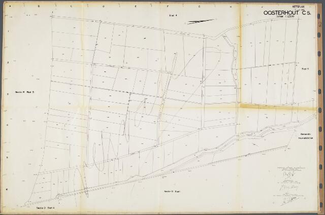 104693 - Kadasterkaart. Kadasterkaart Netplan Oosterhout. Sectie C5. Schaal 1: 2.500