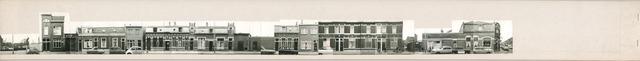 1625_0301 - Fotostrook; straatwand; panden aan de linten en hoofdverbindingswegen in het centrum van de stad;
