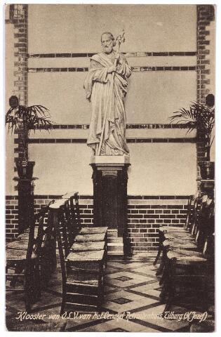 001393 - Kapel van het klooster en retraitehuis van O.L.V. van het Cenakel aan de Kempenbaan, voorheen Koningshoeven. Het beeld van de H. Jozef.