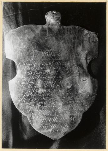 88988 - Kloveniersgilde St. Antonius. Zilveren Koningsschild 1806.
