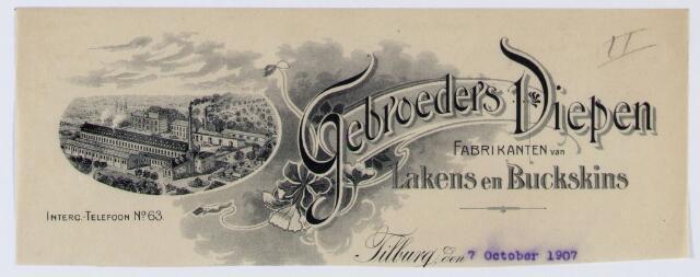 059933 - Briefhoofd. Briefhoofd van Gebroeders Diepen, Korvelseweg 132