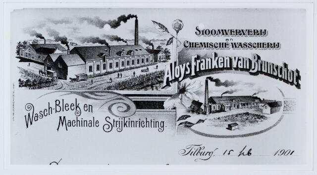 060109 - Briefhoofd. Briefhoofd van Stoomververij en Chemische Wasscherij Aloys Franken van Brunchot