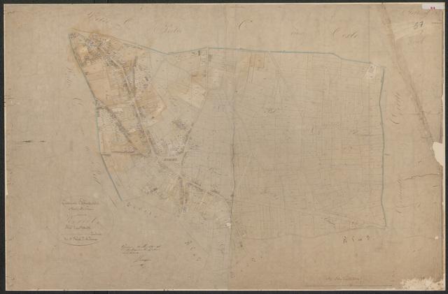 652589 - Kadasterkaart Tilburg, Sectie D (Korvel), blad 2. Schaal 1:2500. 1870.