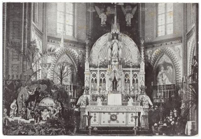 000474 - Kapel met kerststal van het moederhuis van de fraters aan de Gasthuisstraat.