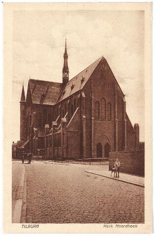 000661 - Industriestraat, later Hart v. Brabantlaan, kerk H. Hart (Noordhoek), rechts voor de kerk de voormalige Mozartstraat.