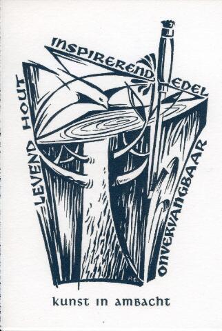 092808 - Tekening. Vignet van Broeders Trappenfabriek aan de Groeseindstraat in Tilburg.