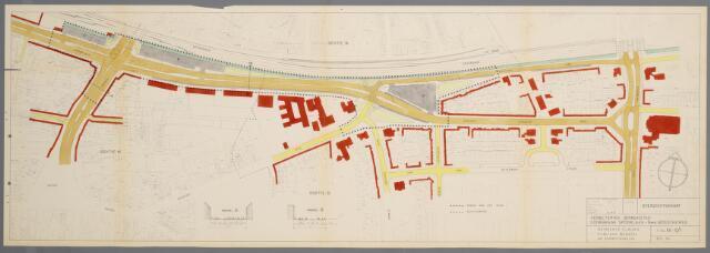 059437 - Wederopbouw. Bestemmingsplan. Verbetering binnenstad. Doorbraak Spoorlaan-Nieuwe Bosscheweg, 1959.