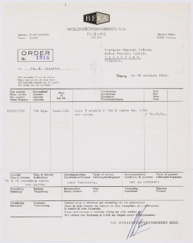 """059554 - Briefhoofd. Briefhoofd van N.V. Wollen- Flanel Fabrieken """"Beka"""" v/h/ Van den Bergh Krabbendam"""