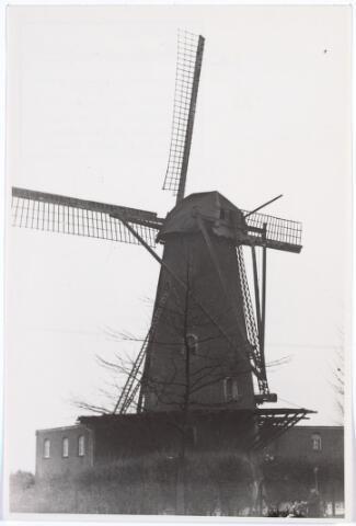 016577 - Molen van de firma Schraven - Eijsbouts begin 1938. Op deze plaats staat nu een appartementencomplex met de naam Molenhoek