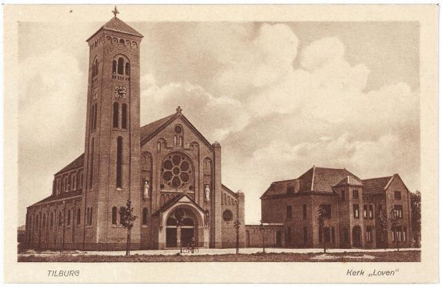 000413 - Kerk en pastorie  H. Willibrordus (parochie Loven) aan de Enschotsestraat