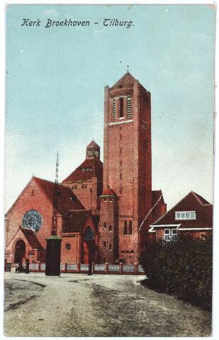 000294 - Op de voorgrond de huidige Voltstraat. Op de achtergrond de Broekhovenseweg  met de kerk van O. L. V. Moeder van Goede Raad (Broekhoven I)